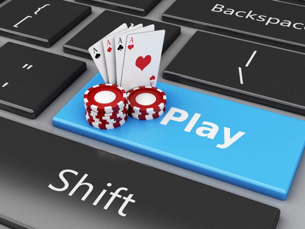 Play poker online.